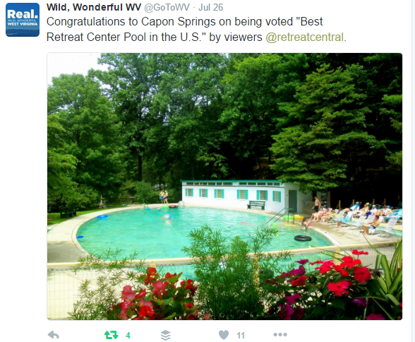 Capon Springs Retreat Center Tweet