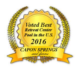 Best Retreat Center Pool Award Seal