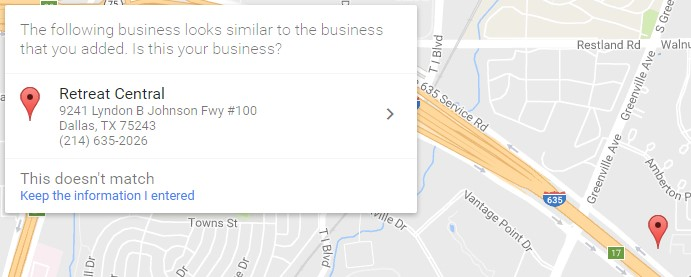 Google My Business Business Looks Similar