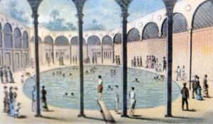 Capon Springs Pool Historical Rendering
